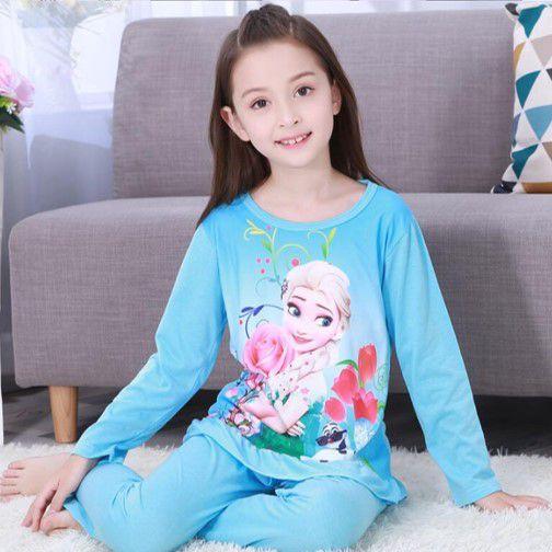 Pijama da Rainha Elsa (Frozen) - Azul