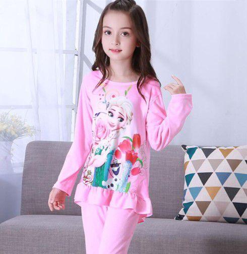 Pijama da Rainha Elsa (Frozen) - Rosa