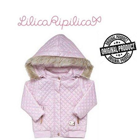 Jaqueta Lilica Ripilica Baby com Capuz Removível - Rosa Bebê