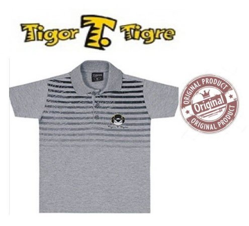 Camisa Polo do Tigor T Tigre - Cinza