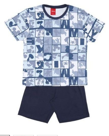 Pijama do Mickey - Azul Marinho e Branco - Lupo