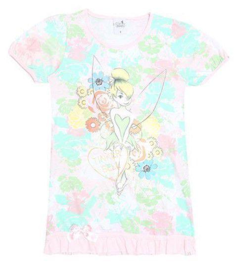 Camisola Tinker Bell - Disney Fairies - Rosa Claro e Verde Claro - Lupo