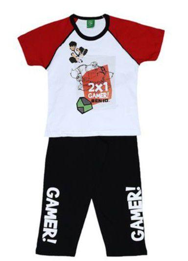 Pijama Infantil Ben 10 -Vermelho e Preto - Lupo