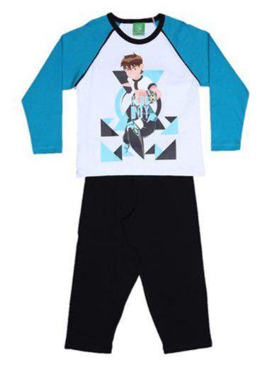 Pijama do Ben 10 - Azul e Preto - Lupo
