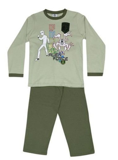 Pijama do Ben 10 - Bordado - Verde Pistache e Verde Musgo - Lupo
