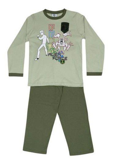 Pijama Infantil Ben 10 Bordado - Verde - Lupo