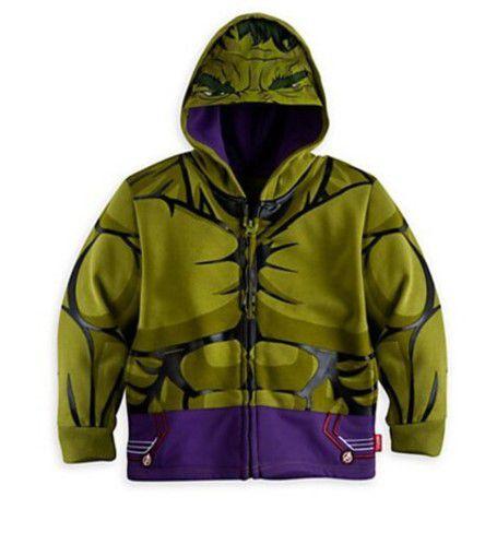 Casaco do Incrível Hulk - Coleção Super Heróis - Verde Musgo
