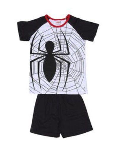 Pijama Infantil Homem Aranha Marvel - Branco e Preto