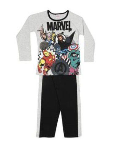 Pijama dos Vingadores - Cinza e Preto - Marvel