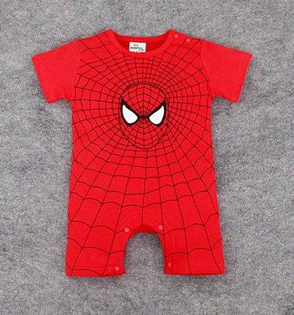 Body do Homem Aranha - Vermelho e Preto
