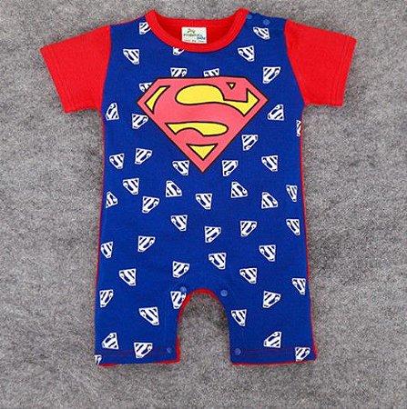 Body do Superman com Símbolo - Azul e Vermelho