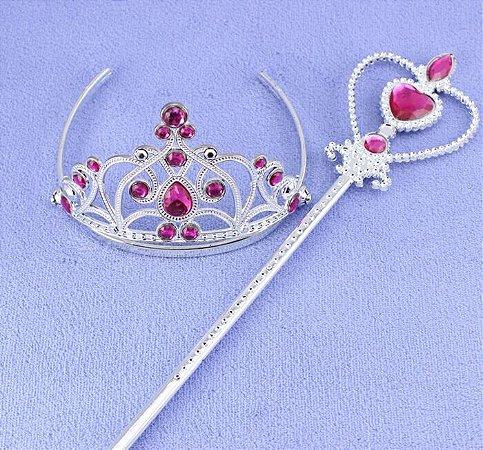 Kit de Varinha e Tiara das Princesas Anna, Aurora e Rapunzel