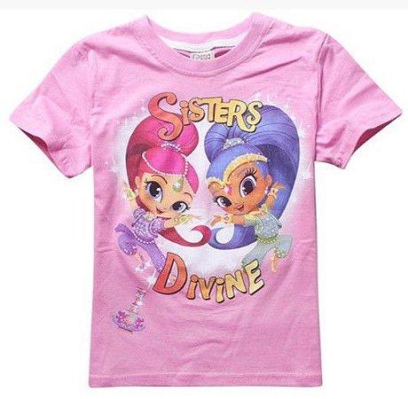 Blusa Infantil Shimmer e Shine Rosa Claro