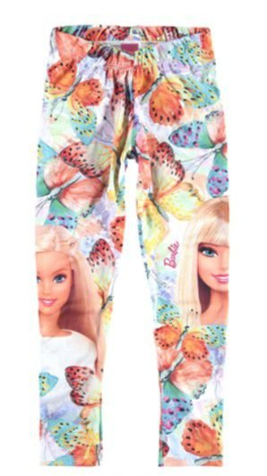 Legging da Barbie - Borboletas - Malwee Kids - Branca Colorida