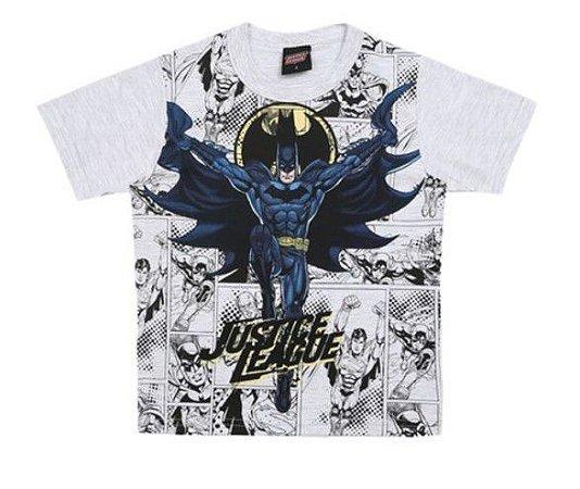 Camiseta do Batman - Liga da Justiça - Cinza - Brandili