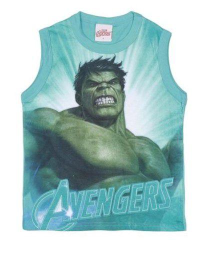 Regata Infantil Hulk Avengers - Verde - Brandili