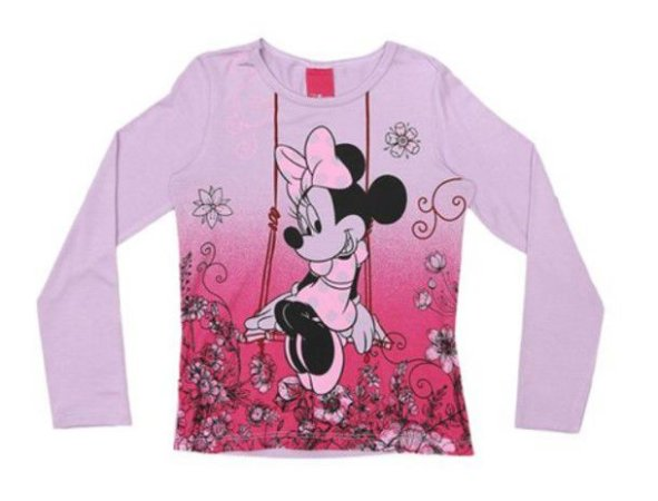 Blusa da Minnie - Lilás Degradê - Cativa Disney