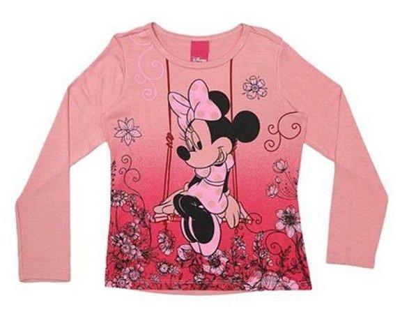 Blusa Infantil Minnie Rosê - Cativa Disney