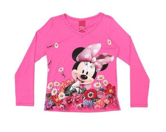Blusa da Minnie - Rosa - Cativa Disney