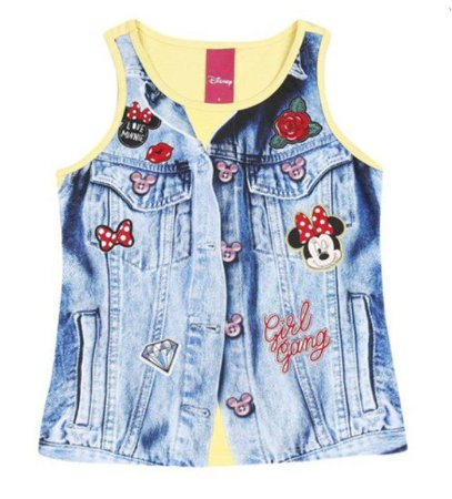 Blusa da Minnie - Amarela e Azul - Cativa Disney