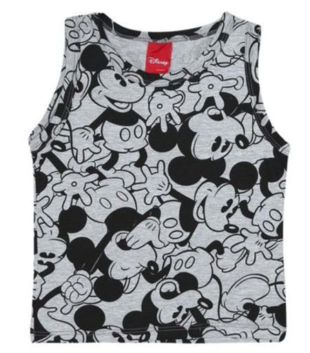Regata Mescla Mickey - Cinza - Disney