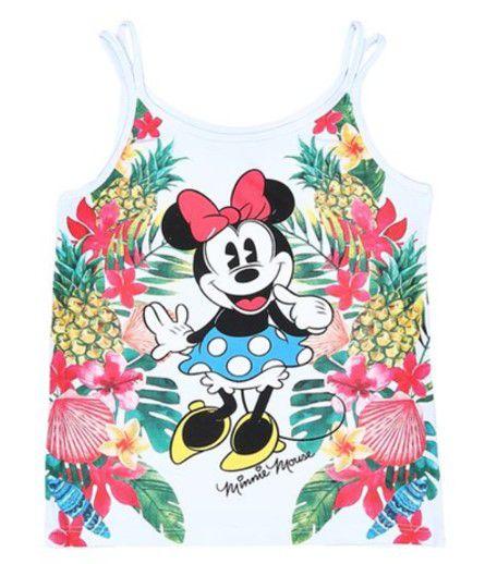 Blusa Floral Minnie - Branca - Disney
