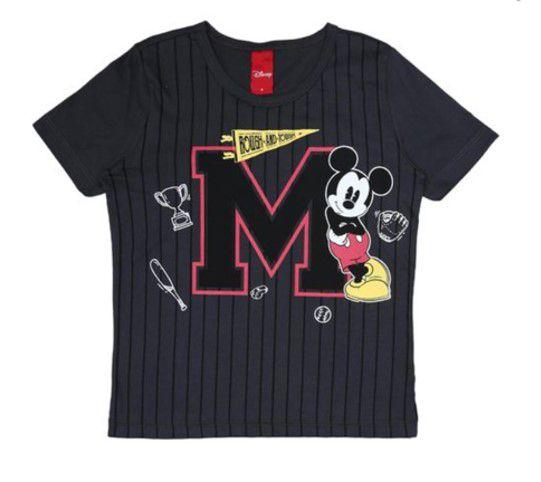 c3cbc382b Camiseta do Mickey - Cinza Grafite Listrada- Disney - AmoPersonagem