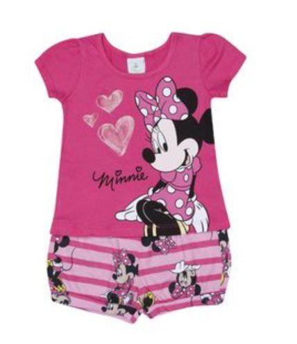 Conjunto de Blusa e Short - Minnie - Rosa - Brandili