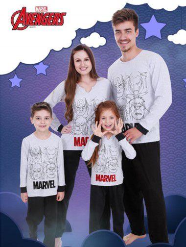 Pijama Avengers - Coleção Família - Marvel