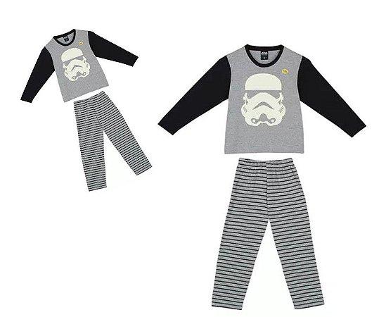 Pijama Disney Star Wars (Brilha Escuro) - Coleção Pai e Filho - Lupo