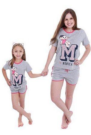 Pijama Short Doll da Mônica - Coleção Mãe e Filha - AmoPersonagem f885ae203