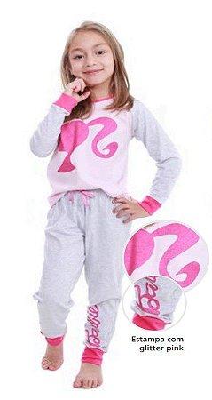 Pijama da Barbie com Glitter - Mattel
