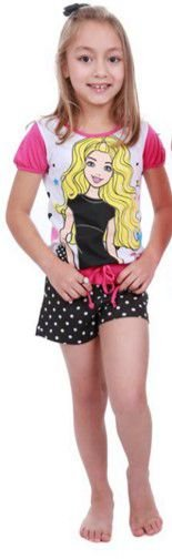 Pijama Short Doll da Barbie - Poá