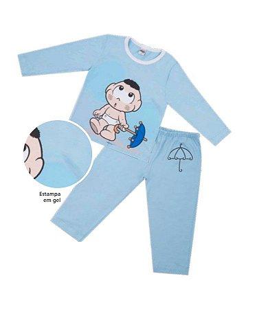 Pijama do Cascão - Turma da Mônica - Azul