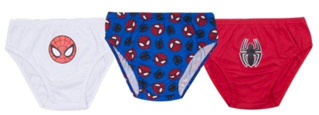 kit de 3 Cuecas Homem Aranha - Azul, Branca e Vermelha