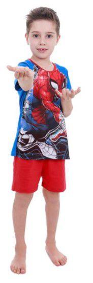 Pijama Infantil Homem Aranha- Marvel - Azul e Vermelho