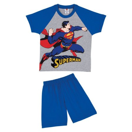 Pijama do Superman - Cinza e Azul - Lupo