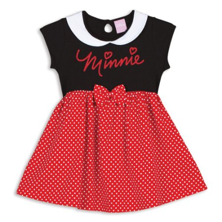 Camisola Infantil Minnie Disney  - Vermelha e Preta - Lupo