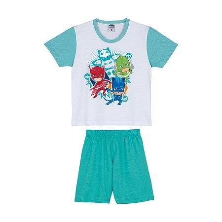 Pijama do PJ Masks - Branco e Verde - Lupo