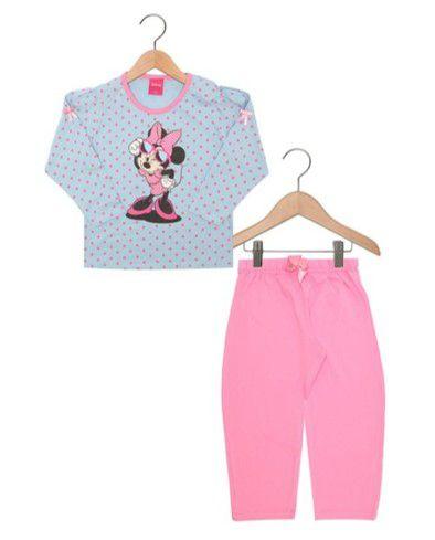 Pijama Minnie  -Disney - Azul Poá - Lupo