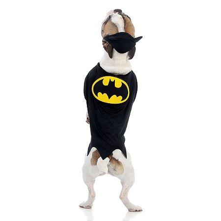 Capa Batman - Pet - Preta e Amarelo - Sulamericana
