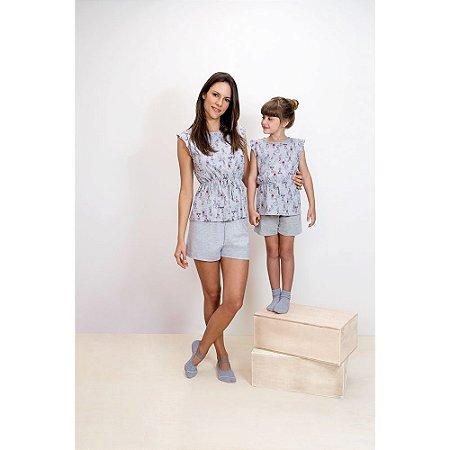 Pijama Short Doll das Bonequinhas- Coleção Mãe e Filha