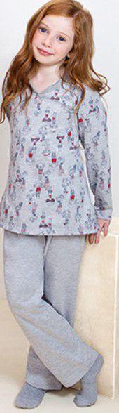 Pijama Infantil Bonequinhas Cinza - Lupo