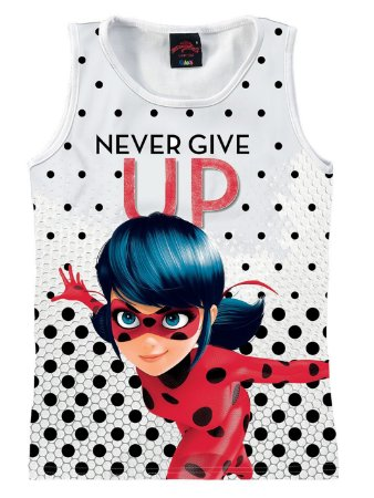 Blusa da Ladybug - Miraculous -Branca Poá-  Malwee