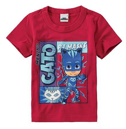 Camiseta PJ Masks - Menino Gato - Vermelho - Malwee