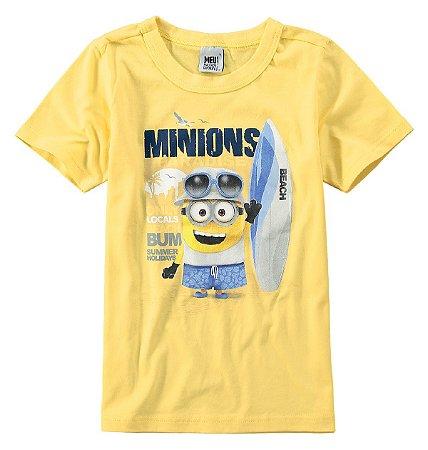 Camiseta dos Minions - Beach - Amarela - Malwee