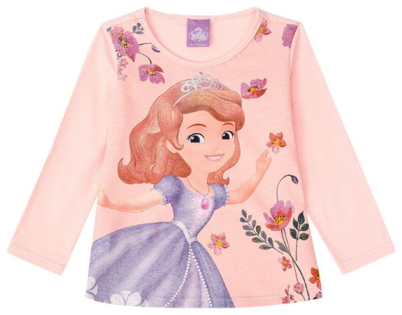 Blusa Princesa Sofia - Disney - Rosa - Malwee