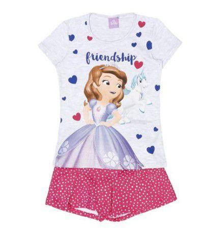 Conjunto de Blusa e Shorts - Princesa Sofia - Disney - Malwee