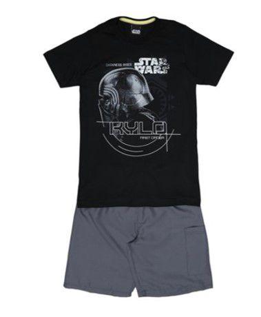 Conjunto de Camiseta e Bermuda Cinza - Kylon Ren Star Wars - Malwee