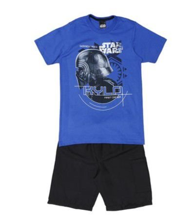 Conjunto de Camiseta e Bermuda Preta - Kylon Ren Star Wars - Malwee